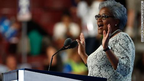 PHILADELPHIA, PA - JULY 26:  Interim chair of the Democratic National Committee, Donna Brazile delivers remarks on the second day of the Democratic National Convention at the Wells Fargo Center, July 26, 2016 in Philadelphia, Pennsylvania.