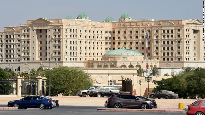 A picture taken on November 5, 2017 in Riyadh shows a general view of the closed Ritz Karlton hotel in Riyadh. A day earlier Saudi Arabia arrested 11 princes, including a prominent billioniare, and dozens of current and former ministers, reports said, in a sweeping crackdown as the kingdom's young crown prince Mohammed bin Salman consoliates power. / AFP PHOTO / FAYEZ NURELDINE        (Photo credit should read FAYEZ NURELDINE/AFP/Getty Images)