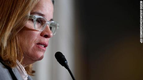San Juan, Puerto Rico Mayor Carmen Yulin Cruz speaks on Capitol Hill in Washington, DC, on November 1, 2017, after a closed door caucus meeting. / AFP PHOTO / JIM WATSONJIM WATSON/AFP/Getty Images