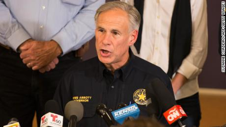 Texas Governor Greg Abbott speaks at a press conference on November 5, 2017, in Sutherland Springs, Texas about the First Baptist Church mass shooting.