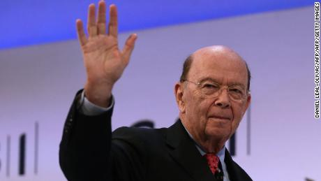 US Secretary of Commerce, Wilbur Ross gestures as he leaves after addressing delegates at the annual Confederation of British Industry (CBI) conference in east London, on November 6, 2017. / AFP PHOTO / Daniel LEAL-OLIVAS        (Photo credit should read DANIEL LEAL-OLIVAS/AFP/Getty Images)