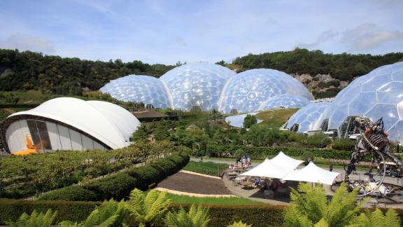The Eden Project in Cornwall is a popular UK tourist attraction. Opened in March 2001, it claims to be home to the world