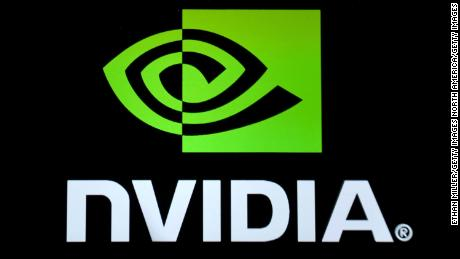 LAS VEGAS, NV - JANUARY 04:  An Nvidia logo is shown on a screen during a keynote address by Nvidia Founder, President and CEO Jen-Hsun Huang (not pictured) at CES 2017 at The Venetian Las Vegas on January 4, 2017 in Las Vegas, Nevada. CES, the world's largest annual consumer technology trade show, runs from January 5-8 and is expected to feature 3,800 exhibitors showing off their latest products and services to more than 165,000 attendees.  (Photo by Ethan Miller/Getty Images)