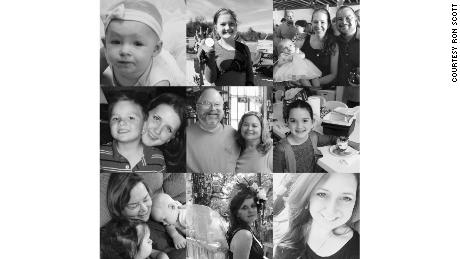 In this collage, left to right, from top: Noah Holcombe, 17 months, deceased; Evelyn Hill, injured; Noah with mother Jenni Holcombe and father Danny Holcombe, deceased; family friend Tara Elyse McNulty, deceased, with son James; Bryan and Karla Holcombe, both deceased; Megan Hill, deceased;  Karla Holcombe with Noah and another grandchild; Crystal Holcombe, who was pregnant, deceased; and McNulty.