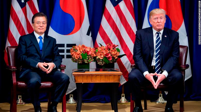 Trump And South Korean President Moon Jae In Sign Trade Deal