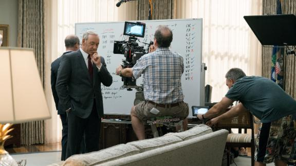 Kevin Spacey on the set of 'House Of Cards' Season 5