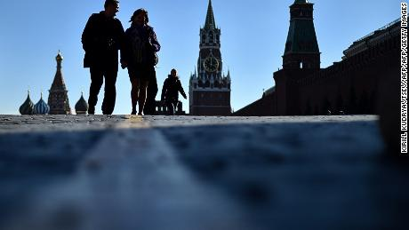 Red Square in Moscow. Russians see the West through the prism of state-run media.