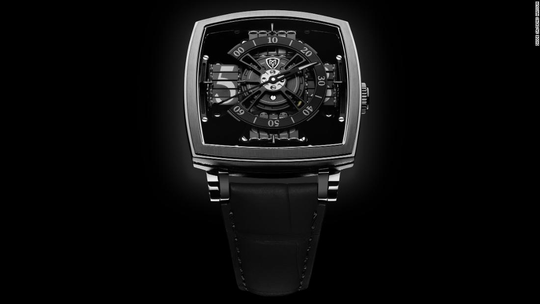 Vantablack has been used in various aesthetic applications including this luxury watch by Manufacture Contemporaine du Temps (MCT) in Switzerland.