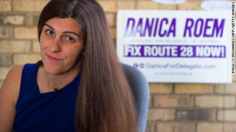 Danica Roem sits in her campaign office in Manassas, Virginia. Roem became the first openly transgender candidate elected to a state legislature in American history in November 2017.