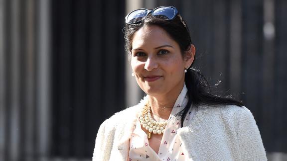 Secretary of State for International Development Priti Patel leaves 10 Downing Street on June 11, 2017.