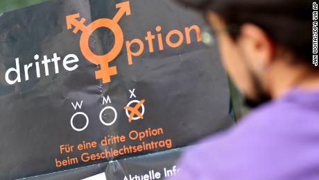 "Activists from ""Dritte Option,"" or Third Option lobbied since 2014 for a third gender to be officially recognized in Germany."