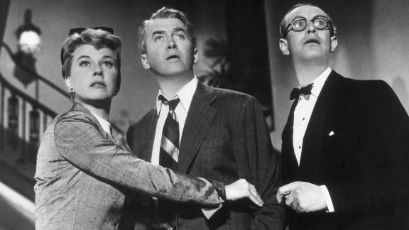 Day played a dramatic role with James Stewart in Alfred Hitchcock