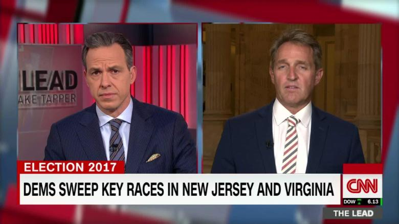tl sen jeff flake live 1 trump referendum va election jake tapper_00004923
