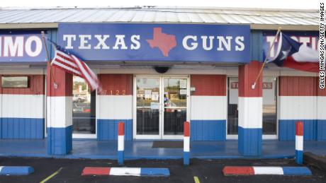 A firearms store in San Antonio, some 30 miles northwest of Wilson County.