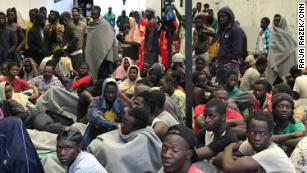 The Triq Al-Sika Detention Center in Tripoli, where some migrants are held by Libyan authorities before they are repatriated.