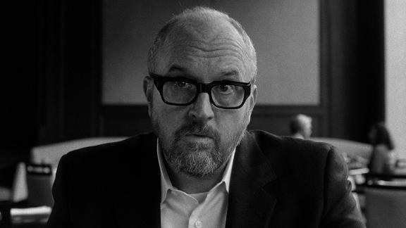 """Louis C.K. as Glen Topher in his film """"I Love You, Daddy"""". The movie was shot on exclusively 35mm black and white film."""