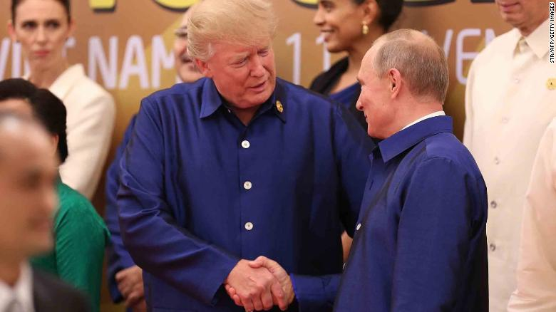 Image result for photo of trump meeting putin in viet nam