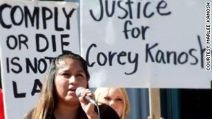 Marlee Kanosh says she has sought justice in her brother Corey's death.