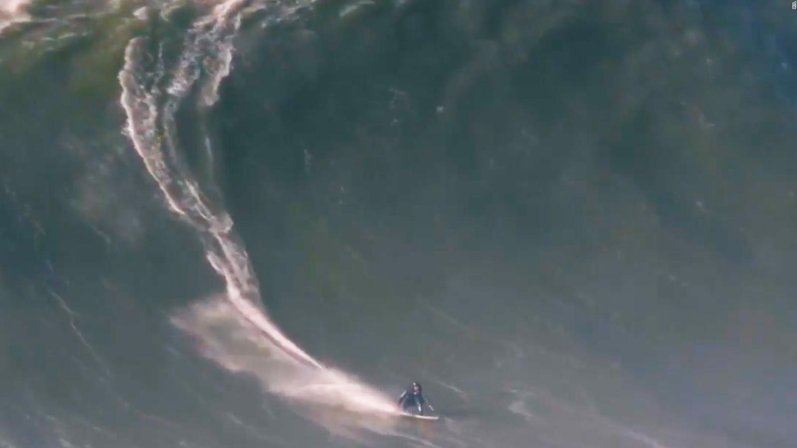 Brazilian Surfer Rodrigo Koxa Surfs World Record 80 Foot Wave In