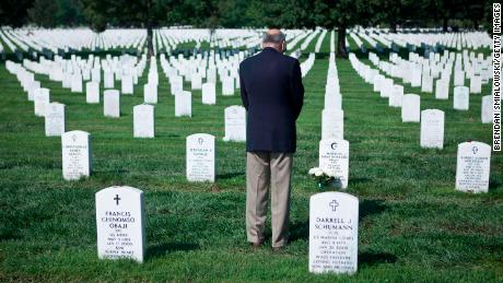 Khan often visits his son's grave in Section 60 of Arlington National Cemetery. In his memoir, he writes about how he learned how to make peace with his grief.