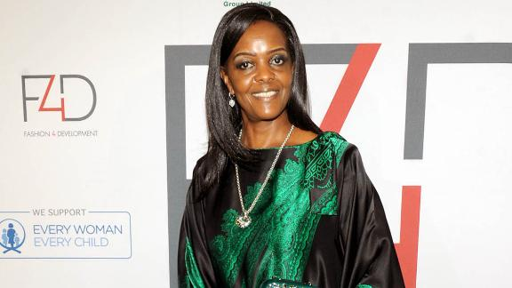 """Grace Mugabe at the """"Fashion 4 Development"""" luncheon at a luxury hotel in New York in September."""