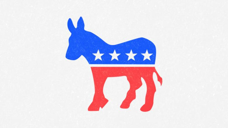 red white and blue donkey with stars