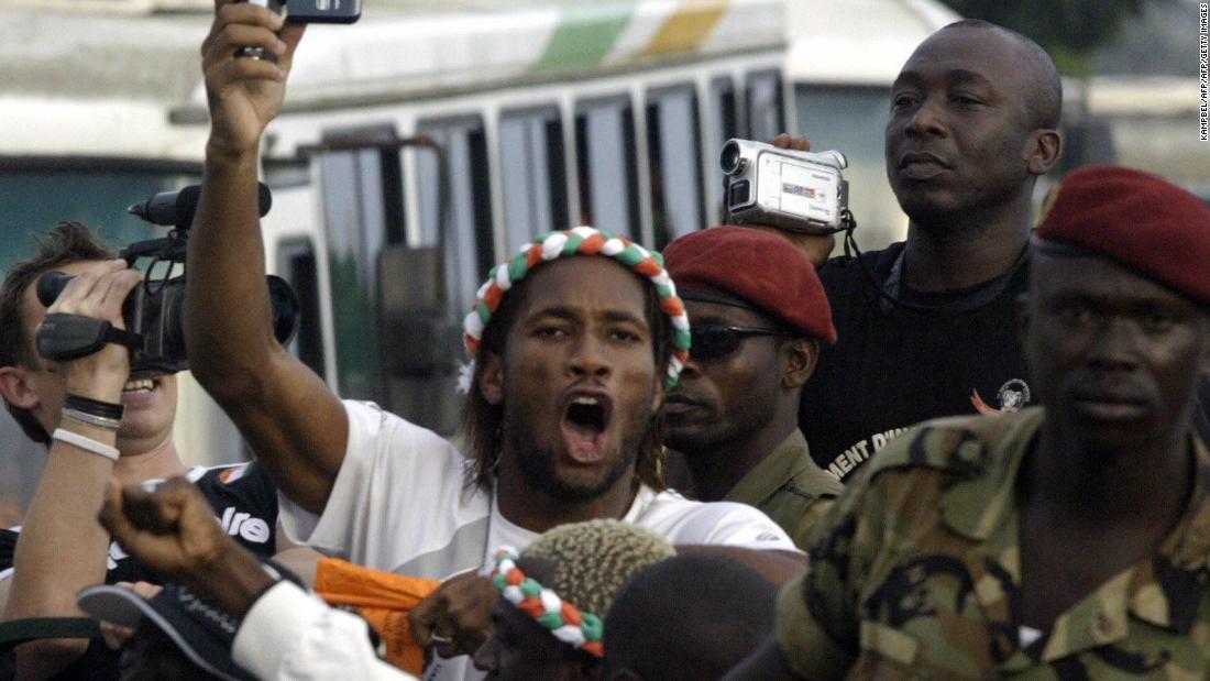Resultado de imagen para ivory coast football civil war