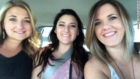 From left Hillary Kane, Samantha Carranza and Lacey Tucker. Tucker used Facebook to find the people who helped the three women during the Las Vegas shooting.