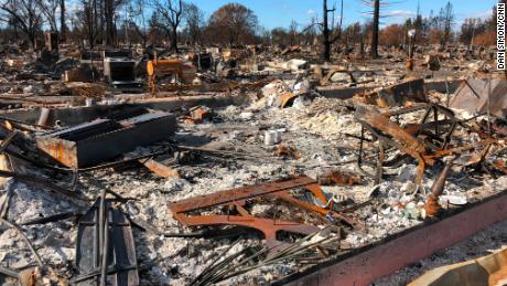 A month after the wildfire, every street in Santa Rosa's Coffey Park subdivision looks just like this.