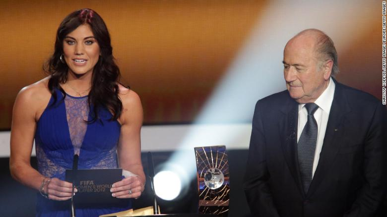 Hope Solo claims ex-FIFA chief grabbed her