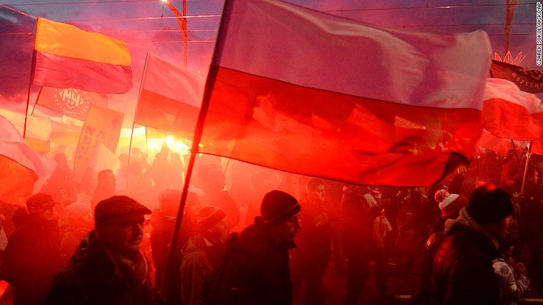 Nationalists disrupt Polish independence day