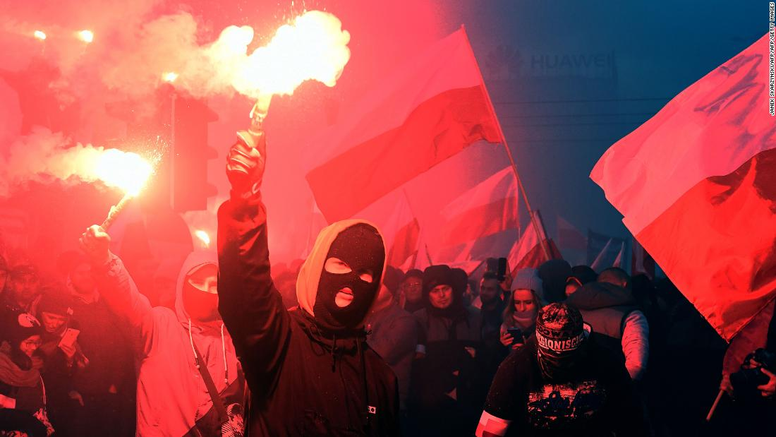 Protesters disrupt Poland independence day events - CNN