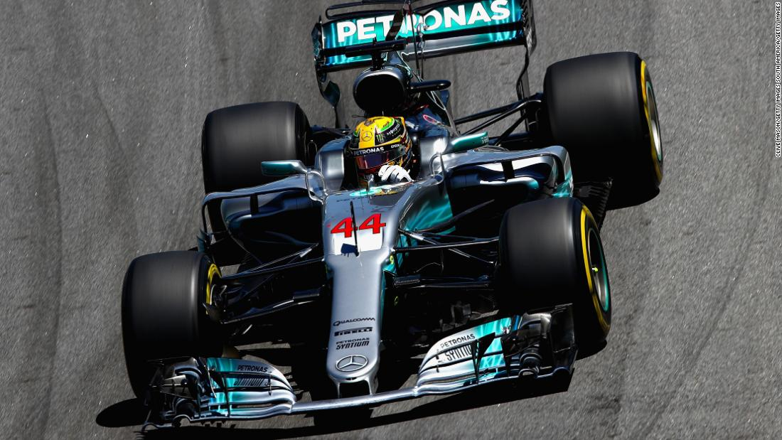 After crashing out of qualifying in Q1, Lewis Hamilton was forced to start from the pit lane, following repairs to his Mercedes car. Aided by a early Safety Car, Hamilton was able to surge through the field in the early laps of the race.