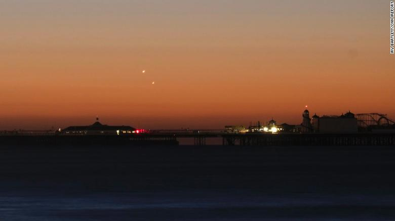 Jupiter and Venus meet in the sky
