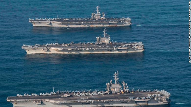 North Korea: 3 US aircraft carriers creating \'worst ever\' situation ...