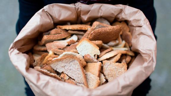 Leftover bread is collected from local bakeries, sandwich-making factories and bagel bakers.  Each batch of Toast Ale uses 280kg or 9,400 slices. Therefore, each 330ml bottle of Toast Ale contains the equivalent of one slice of bread.