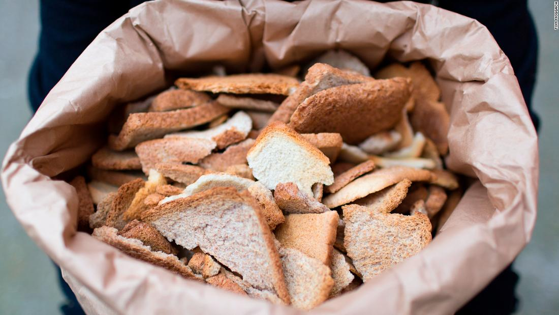 Leftover bread is collected from local bakeries, sandwich-making factories and bagel bakers.<br /><br />Each batch of Toast Ale uses 280kg or 9,400 slices. Therefore, each 330ml bottle of Toast Ale contains the equivalent of one slice of bread.<br />