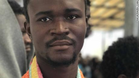 Ali Jemma is one of the many migrants detained at the Treeq Alsika Migrant Detention Center in Tripoli.