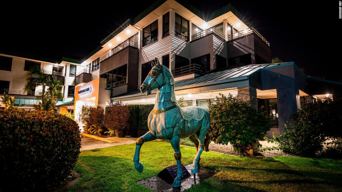 Dubbed the 'Art of the Horse' project, the statues will be auctioned off now the Breeders' Cup is over with the proceeds going towards local community events and charities.