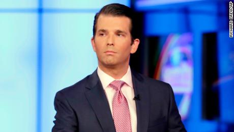 FILE - In this July 11, 2017, file photo, Donald Trump Jr. is interviewed by host Sean Hannity on the Fox News Channel television program, in New York. The Republican National Committee has spent nearly $200,000 on legal fees for President Donald Trump's eldest son in connection with the Russia investigation. An RNC official says about $167,000 was paid to Donald Trump Jr.'s attorney, Alan Futerfas. Another $30,000 went to the law firm of Williams & Jenson, which helped prepare him for testimony. The official insisted on anonymity to discuss financial information not yet made public.(AP Photo/Richard Drew, File)