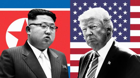 """**This image is for use with this specific article only.**While President Donald Trump rattles sabers on Twitter and slams """"Rocket Man"""" Kim Jong Un, there is also a perceptible hardening of tone among senior officials."""