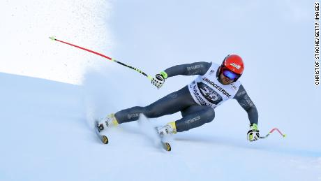 Poisson won bronze in the downhill at the 2013 World Championships