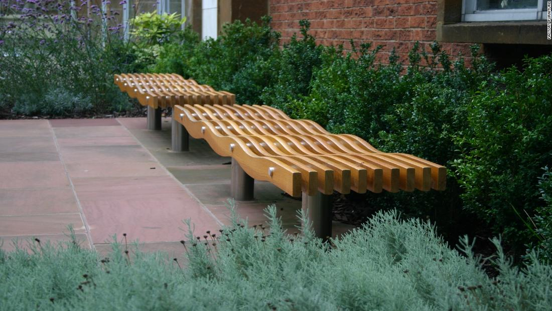 "The <a href=""http://www.factoryfurniture.co.uk/serpentine-range/"" target=""_blank"">Serpentine bench</a>'s curves deter skaters and rough sleepers alike."