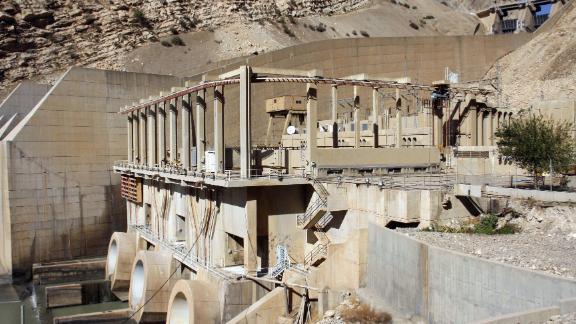 A general view shows a dam in the mountainous town of Darbandikhan in Iraqi Kurdistan.