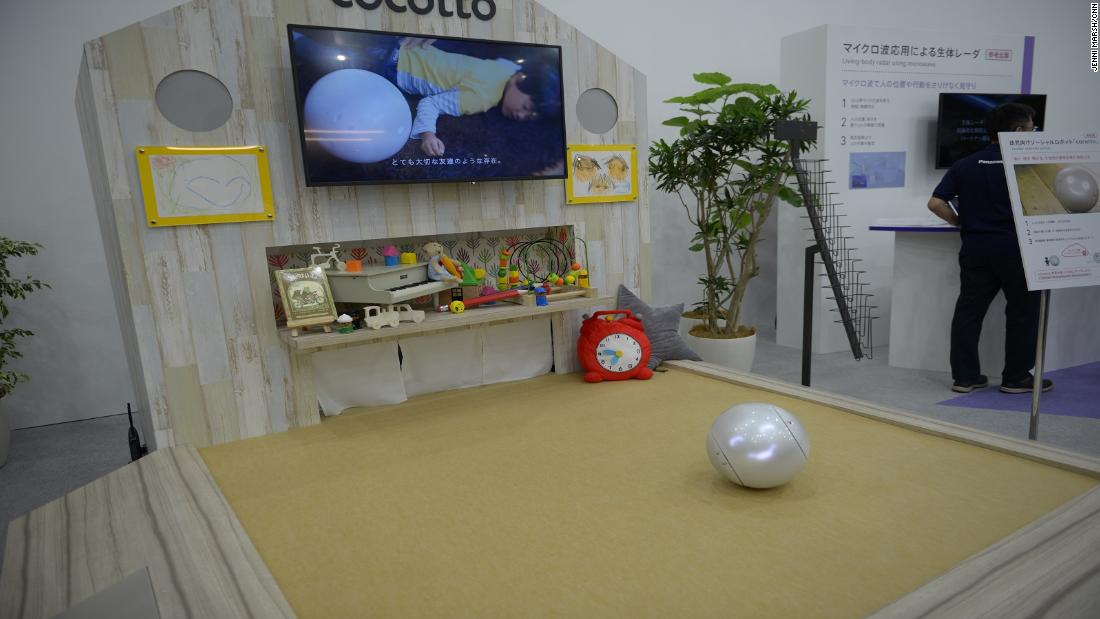 Parents instruct the spherical social robot, make it their helper as much as the child's friend.