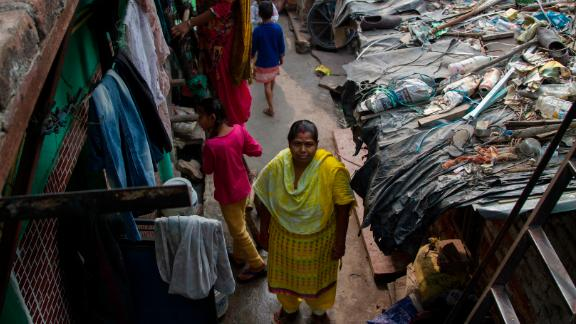 """""""So many of the health problems we're currently facing is because of the pollution,"""" said Shobha Singh, Ravidass Slum resident"""