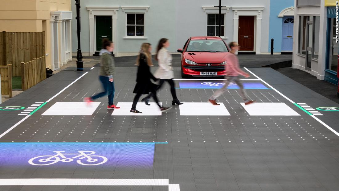 A project commissioned by UK insurance company Direct Line and advertising agency Saatchi & Saatchi, the crossing is an interactive pedestrian crossing created by tech firm Umbrellium.