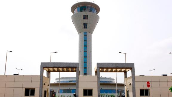 The entrance of Blaise Diagne International Airport (AIBD) in Diass, around 40km from the Senegalese capital Dakar.   The $575 million megaproject will be among the largest airports in Africa when it opens on December 7.