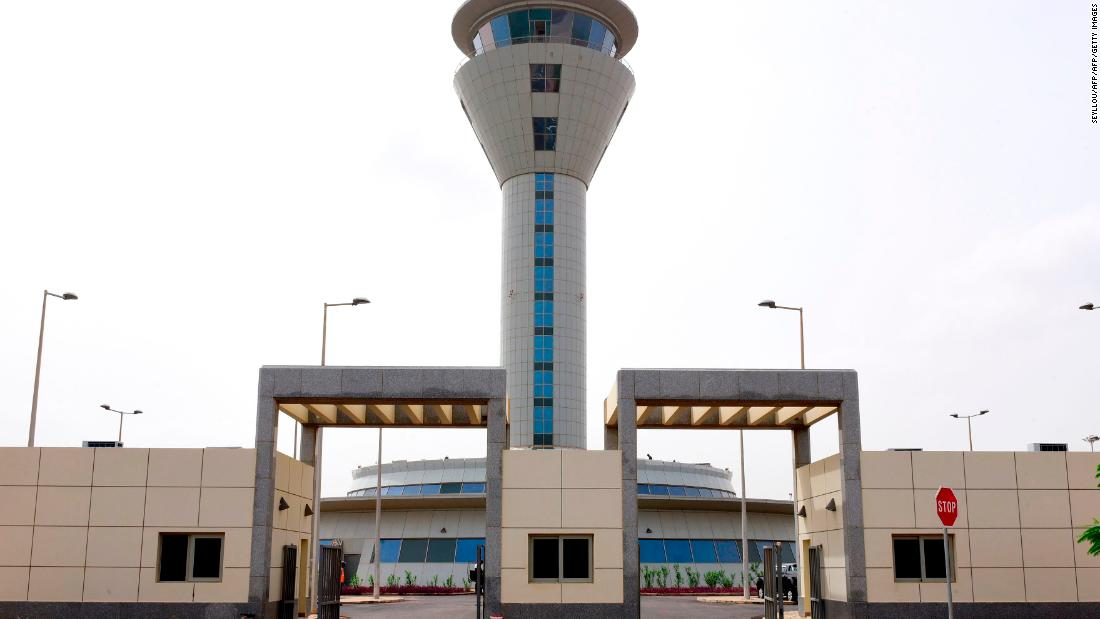 The entrance of Blaise Diagne International Airport (AIBD) in Diass, around 40km from the Senegalese capital Dakar. <br /><br />The $575 million megaproject will be among the largest airports in Africa when it opens on December 7.