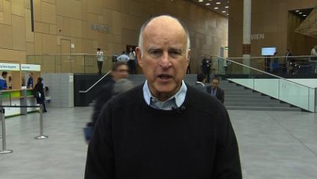 California Gov. on climate fight: 'We're in'